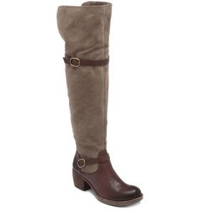 Lucky Brand Roller Over the Knee Suede Boots 8